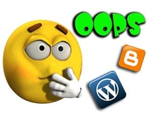 Errores que no puedes cometer en tu blog